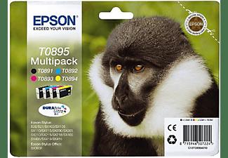Pack de cartuchos - Epson T0895, negro, magenta, cian y amarillo