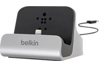 BELKIN Lightning-Dock, mit festem 1.2m USB-Kabel, Laden & Sync, 1.0A, MIXit, Silber Lade/Sync Dockingstation, Grau
