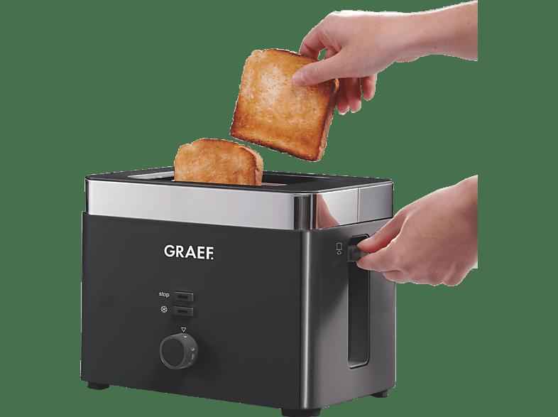 GRAEF TO 62 Toaster Schwarz (1000 Watt, Schlitze: 2)