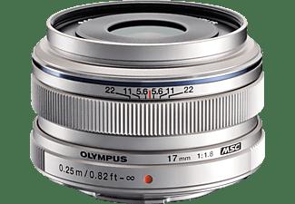 OLYMPUS Zuiko Pen M 17 mm - 17 mm f/1.8 MSC (Objektiv für Micro-Four-Thirds, Silber)