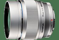 OLYMPUS Pen M Zuiko Digital 75mm 1,8 75 mm - 75 mm f/1.8 ED, MSC (Objektiv für Micro-Four-Thirds, Silber)