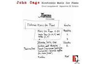 Di Scipio Longobardi - Cage: Electronic Music For Piano [CD]