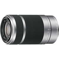 SONY SEL55210 55 mm-210 mm f/4.5-6.3 OSS, Circulare Blende (Objektiv für Sony E-Mount, Silber)