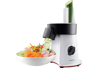 PHILIPS Universalzerkleinerer VIVA HR1388/80 Salad Maker (Pommesschneider) weiß-schwarz