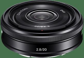 SONY SEL20F28 - 20 mm f/2.8 E, ASPH, Circulare Blende (Objektiv für Sony E-Mount, Schwarz)