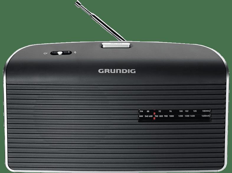 GRUNDIG Music 60 Tragbares Radio (UKW, MW, Grau)