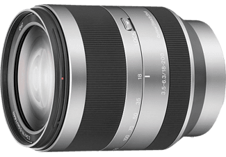 SONY SEL18200 18 mm - 200 mm f/3.5-6.3 OSS, ASPH, Circulare Blende (Objektiv für Sony E-Mount, Silber)