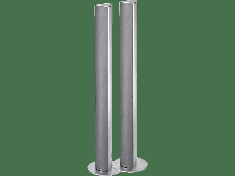 MAGNAT Needle Alu Super Tower 1 Paar Standlautsprecher (Passiv, Silber)
