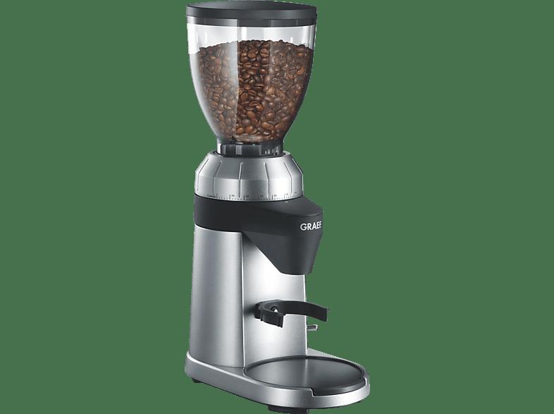 GRAEF CM 800 Kaffeemühle Silber (128 Watt, Edelstahl-Kegelmahlwerk)