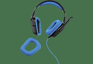LOGITECH G430, Over-ear Headset Schwarz/Blau