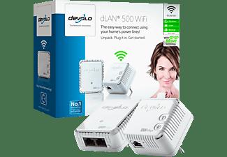 Adaptador PLC - Devolo DLAN 500 Starter Kit, WiFi N, 500Mbps
