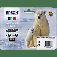 EPSON Original Tintenpatrone Eisbär Multipack mehrfarbig (C13T26364010)