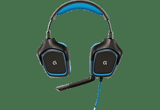 Auriculares gaming - Logitech G430, Sonido Dolby 7.1, Micrófono, Azul