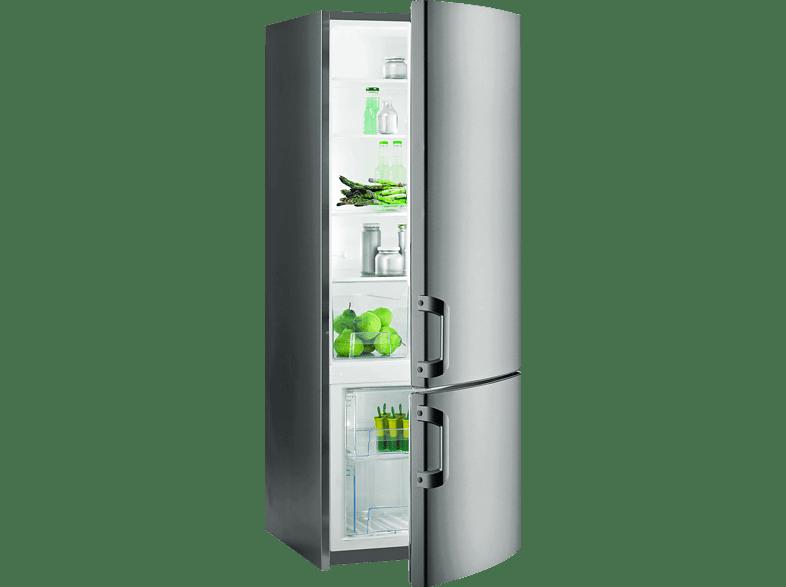 GORENJE RK61620X  Kühlgefrierkombination (A++, 205.0 kWh/Jahr, 1620 mm hoch, Grau Metallic)