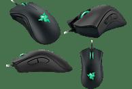 RAZER DeathAdder Maus, Schwarz mit grüner Beleuchtung