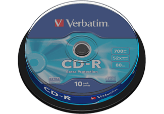VERBATIM Rohlinge Extra Protection CD-R 80min/700MB 52x, 10er-Spindel (43437)