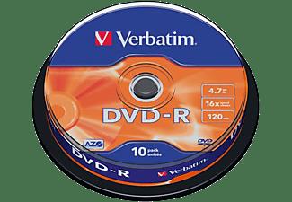 VERBATIM Rohlinge DVD-R 4.7GB 16x, 10er Spindel (43523)
