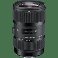 SIGMA 210955 18 mm-35 mm f/1.8 DC, HSM (Objektiv für Nikon F-Mount, Schwarz)