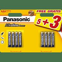 PANASONIC LR03APB/8BW AAA Micro Batterie Alkaline 8 Stück