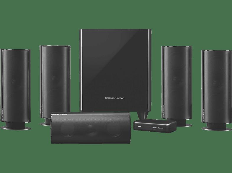 HARMAN KARDON HKTS 65 BQ Lautsprechersystem (5.1 Kanal, Schwarz glänzend)