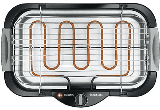 Barbacoa eléctrica - Taurus 968.435 MAXIMS, Potencia 2000W, Termostato regulable y extraíble,