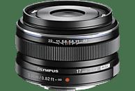 OLYMPUS Zuiko Pen M 17mm 1:1.8 17 mm - 17 mm f/1.8 MSC (Objektiv für Micro-Four-Thirds, Schwarz)
