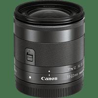 CANON EF-M 11-22mm IS STM 11 mm-22 mm f/4-5.6 IS, STM (Objektiv für Canon M-Mount, Schwarz)