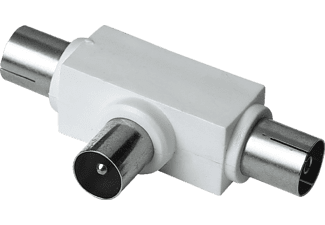 HAMA Koax-Stecker - 2 Koax-Kupplungen Antennen-Verteiler