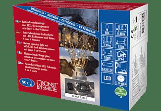 KONSTSMIDE 3728-100 LED Lichterkette, Schwarz, Warmweiß