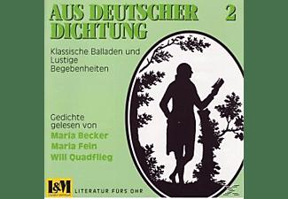 Markus Becker, M.-M.Fein-W.Quadflieg Becker - Aus Deutscher Dichtung 2  - (CD)