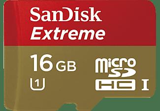 SANDISK Extreme® PLUS, Micro-SDHC Speicherkarte, 16 GB, 80 MB/s