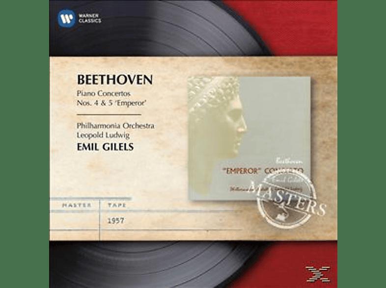 Emil Gilels, The Philharmonia Orchestra - Klavierkonzerte 4 & 5 [CD]