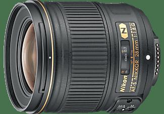 NIKON AF-S Nikkor 28mm 1:1.8G 28 mm f/16 AF-S, N (Objektiv für Nikon F-Mount, Schwarz)