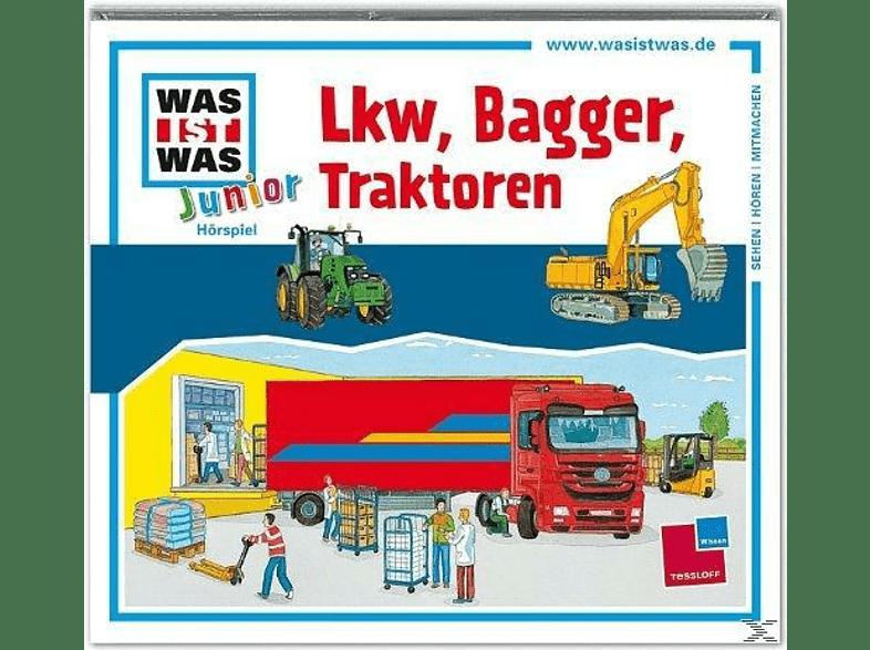 WAS IST WAS Junior: Lkw, Bagger, Traktoren - (CD)
