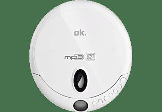 OK. OPC 310-W Tragbarer CD Player, weiß