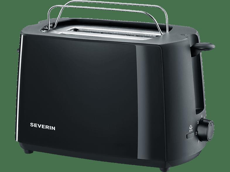 SEVERIN AT 2287 Toaster Schwarz (700 Watt, Schlitze: 2)