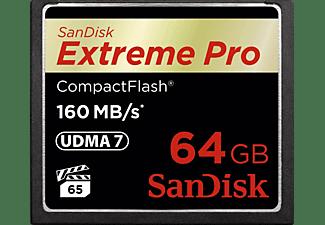 SANDISK Extreme Pro, Compact Flash Speicherkarte, 64 GB, 160 MB/s