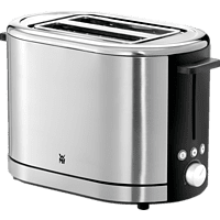 WMF 04.1409.0011 Lono Toaster Edelstahl matt/Schwarz (900 Watt, Schlitze: 2)