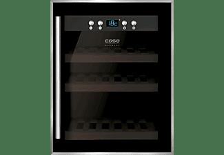 CASO Weinkühlschrank mit Kompressortechnik WineSafe 12 Schwarz Edelstahl für 12 Flaschen