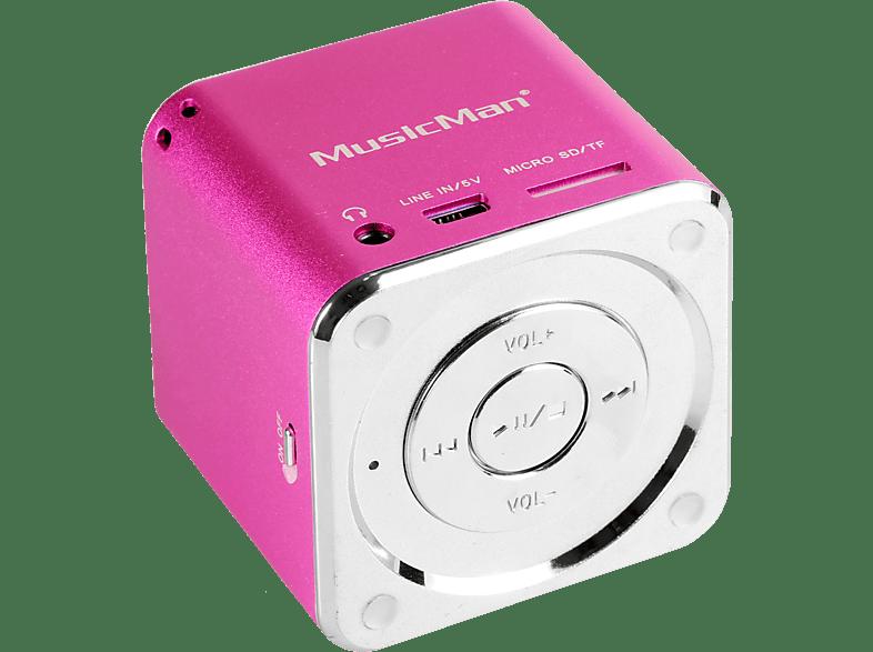 TECHNAXX 3531 Mini Musicman Soundstation Dockingstation, Pink