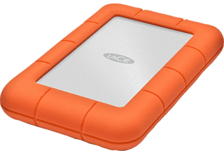 LACIE Rugged Mini Mobile Disk - 1TB - USB3.0 - orange - Disque dur (HDD, 1 TB, Argent/Orange)