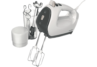 PHILIPS Handmixer HR1575/51 Viva Set 550 weiß/grau