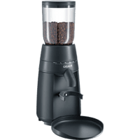 GRAEF CM 702 Kaffeemühle Schwarz matt (128 Watt, Edelstahl-Kegelmahlwerk)