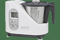 JUPITER 881001 Thermomaster Küchenmaschine mit Kochfunktion, Weiß