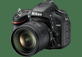 NIKON D610 Kit Spiegelreflexkamera, 24.3 Megapixel, 24-85 mm Objektiv (VR, AF-S), Schwarz