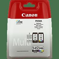 CANON PG-545 + CL-546 Tintenpatrone Multipack, mehrfarbig