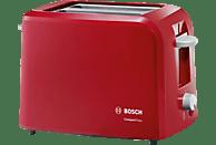 BOSCH TAT 3A 014 Toaster Rot/Hellgrau (980 Watt, Schlitze: 2)