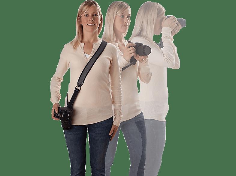 JOBY UltraFit Sling Strap für Frauen Kameragurt, Digitale Spiegelreflex-, und Systemkameras, Schwarz/Grau