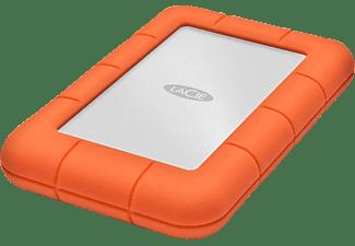 Disco duro 1 TB - LaCie Rugged Mini, USB 3.0, Naranja
