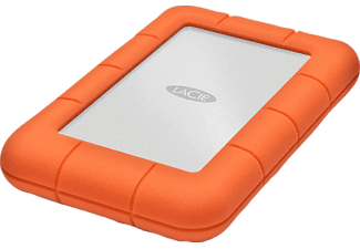 Disco duro 1 TB - LaCie Rugged Mini, USB 3.0, Naranja